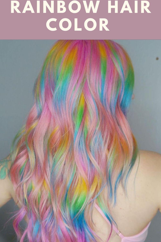Colorful Rainbow hair color and hair dye ideas for Summer!