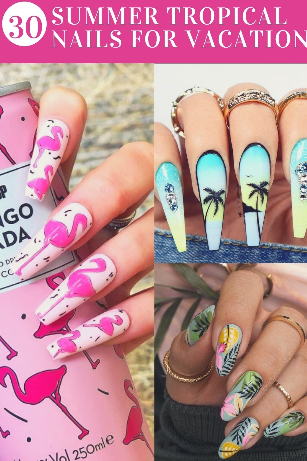 summer tropitcal nails