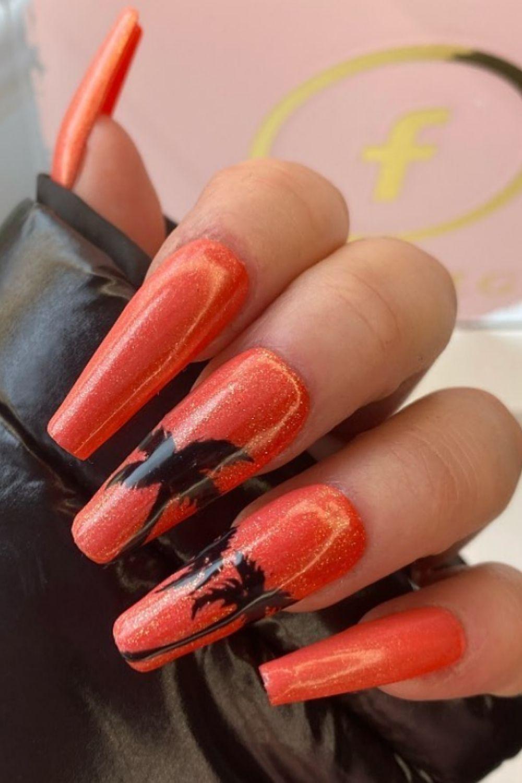 Summer tropical nails