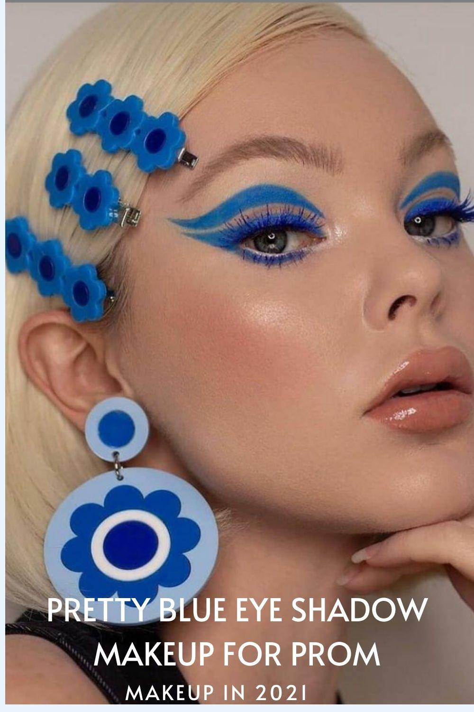 Cool blue eyeshadow makeup looks ideas