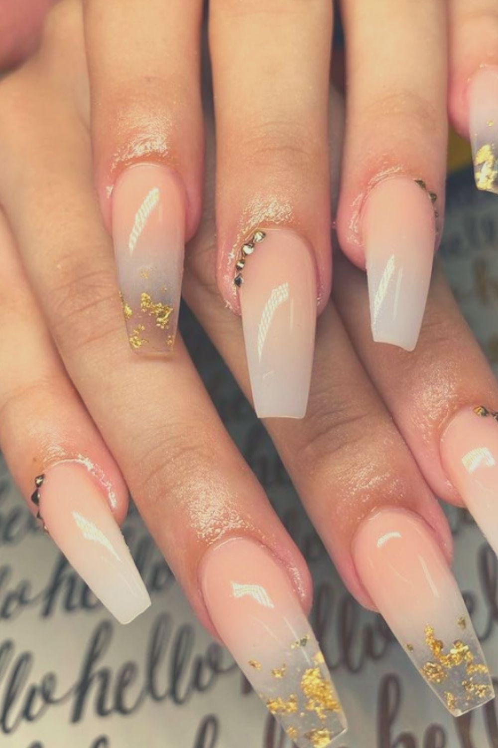 Ombre acrylic nails natural
