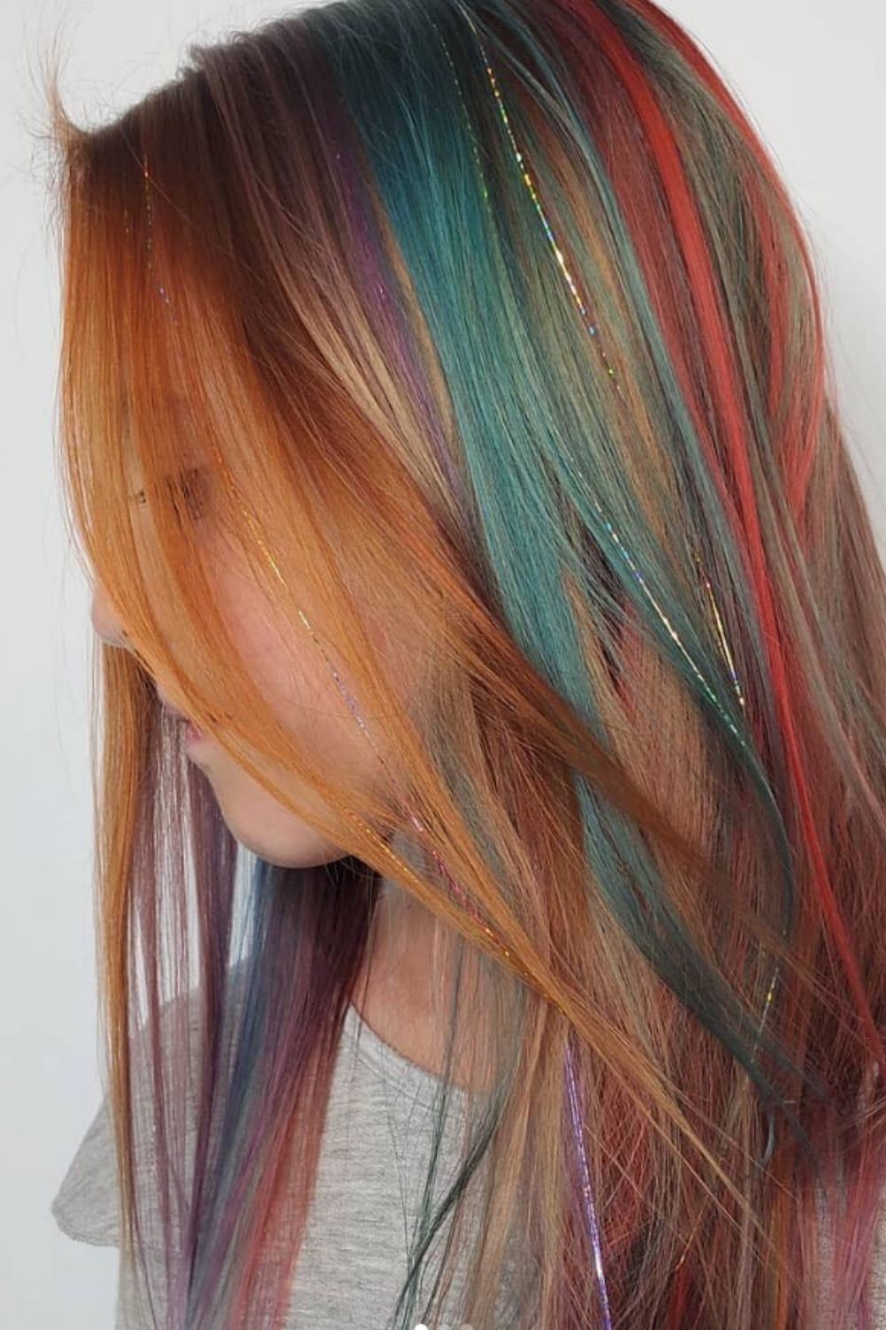 Tinsel hair tutorials: Tips For Glitter Hair To Make Your Hair Sparkly!