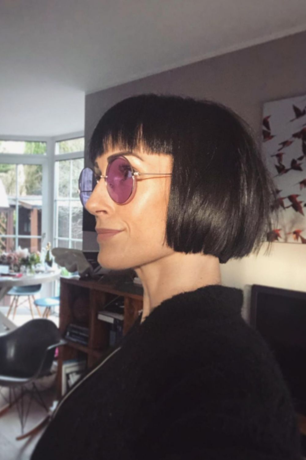 stylish short Bob with bangs to try out for the summer