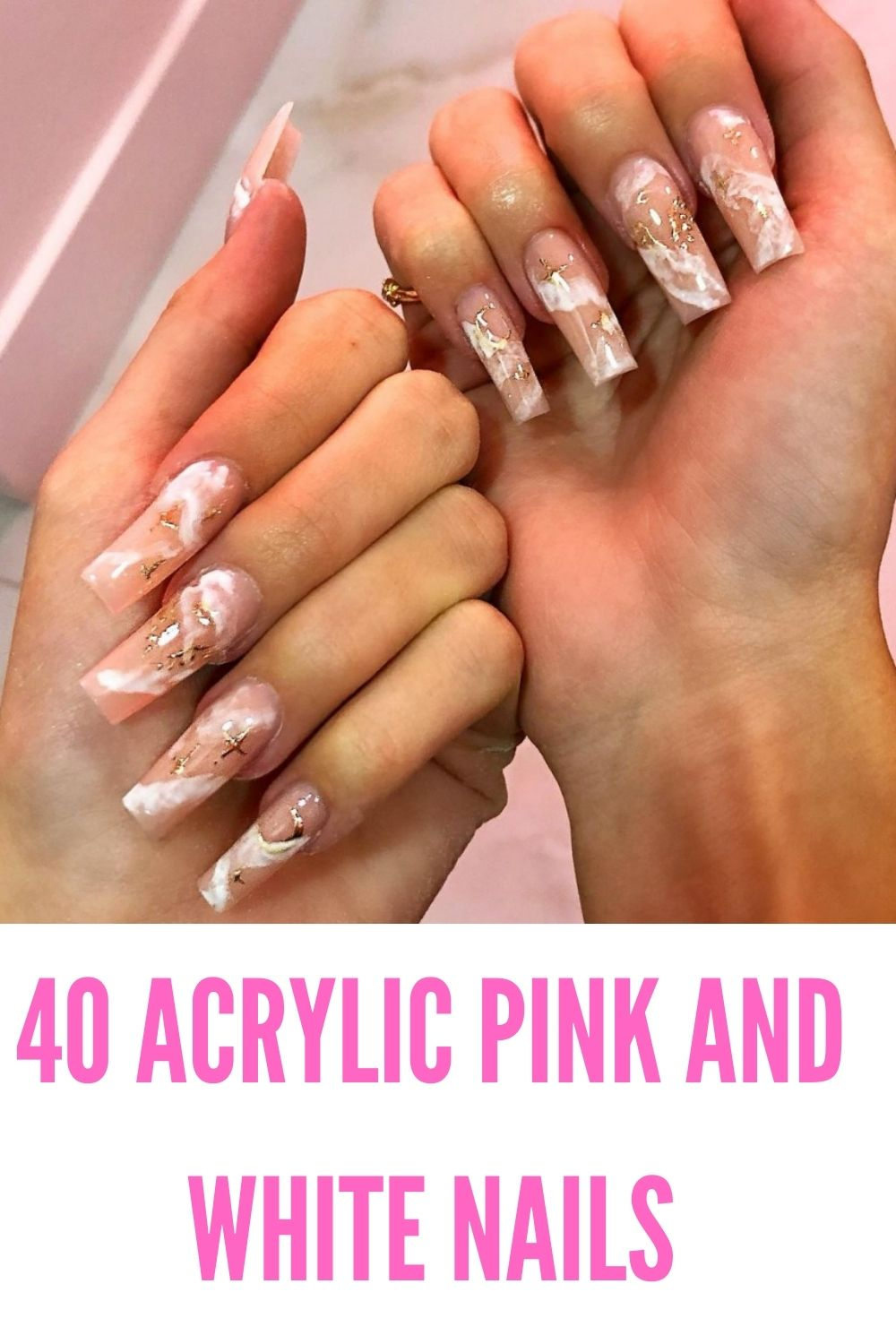 Elegant Pink And White Nails For Graduation In 2021!