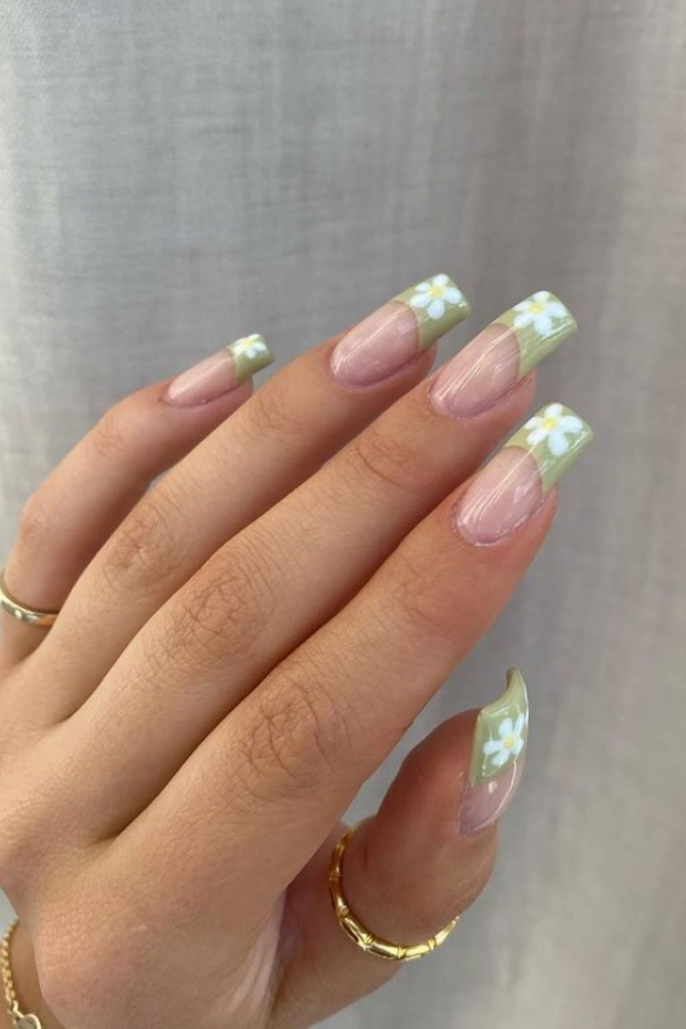 Summer French Tip Acrylic Coffin Nails To Try 2021!