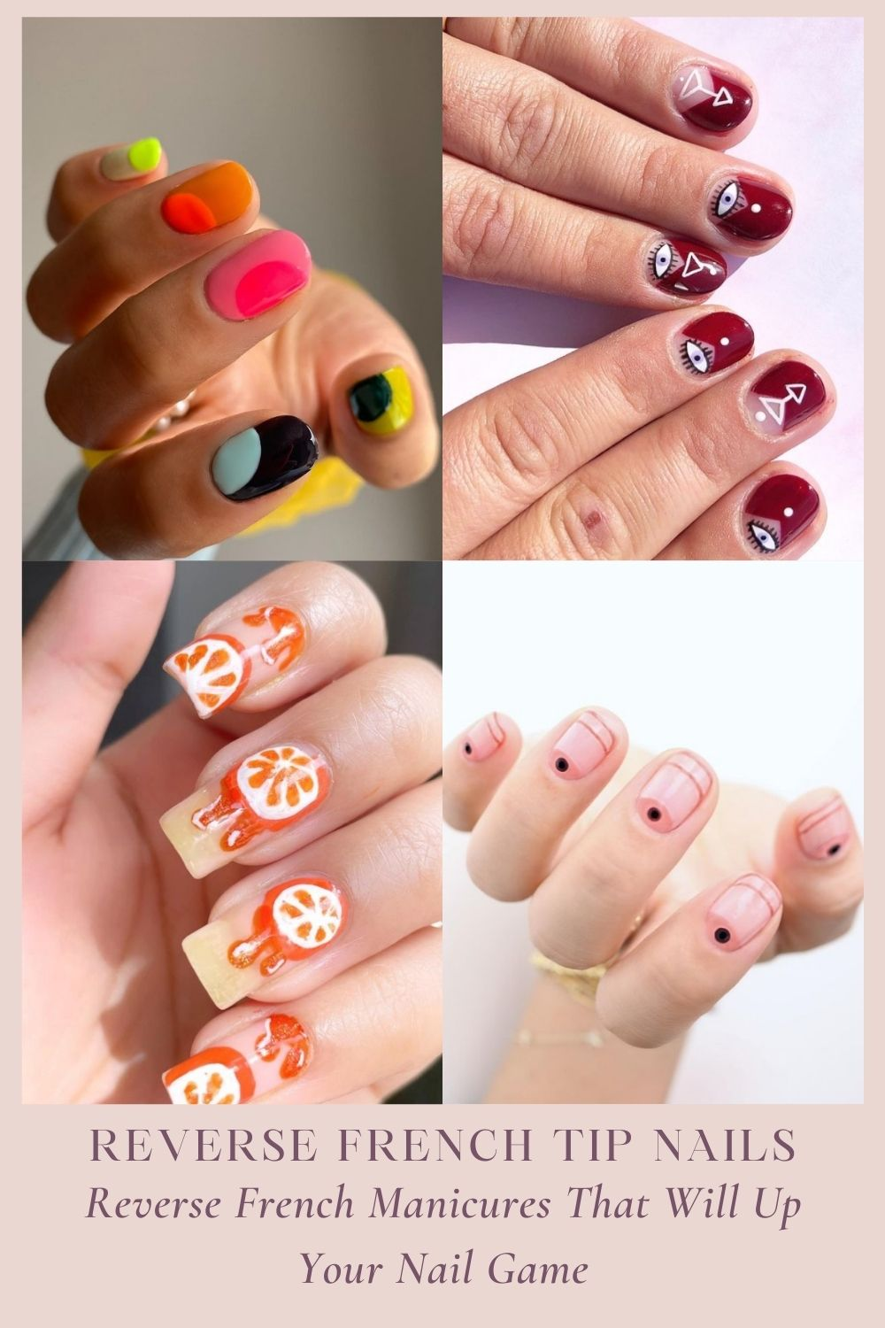 Reverse French tip nails | cute Nails to Recreate Your Favorite Looks