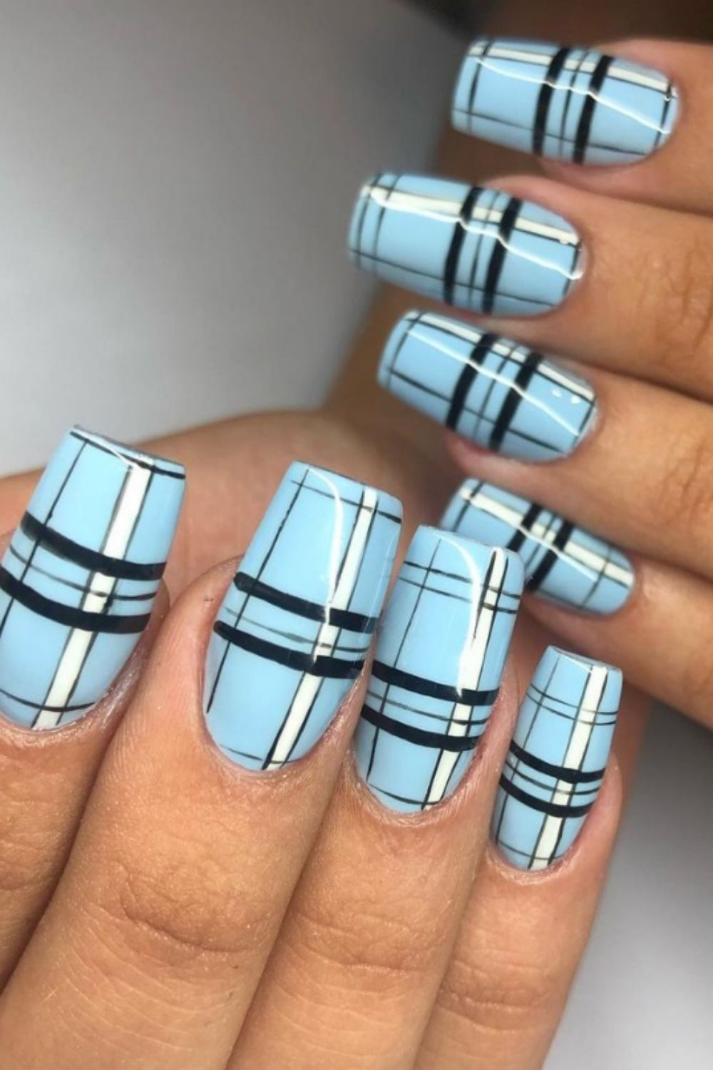 Light blue nails | Who knew nail colors could be so deep?