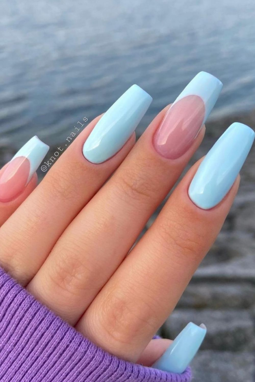 Light blue nails   Who knew nail colors could be so deep?