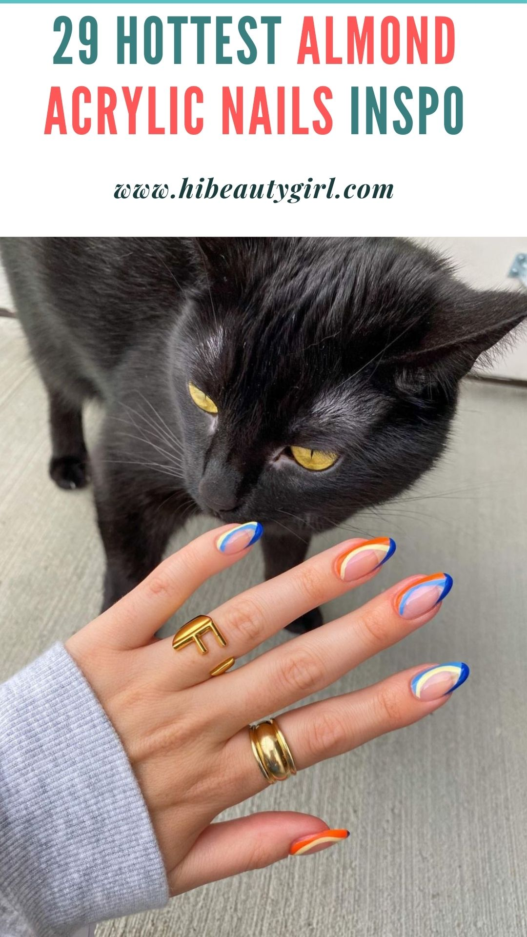 short almond acrylic nails for summer and fall nails