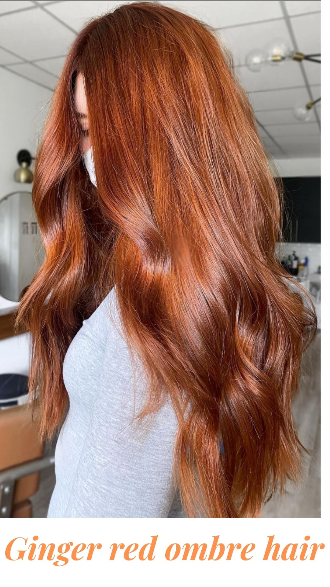 Fancy ginger orange hair color and giner hair shades ideas 2021