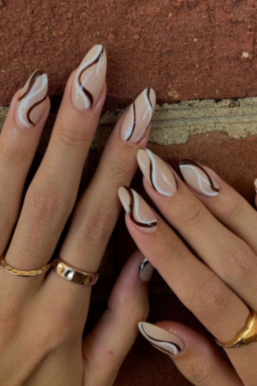 Sweet Swirl Nail Design