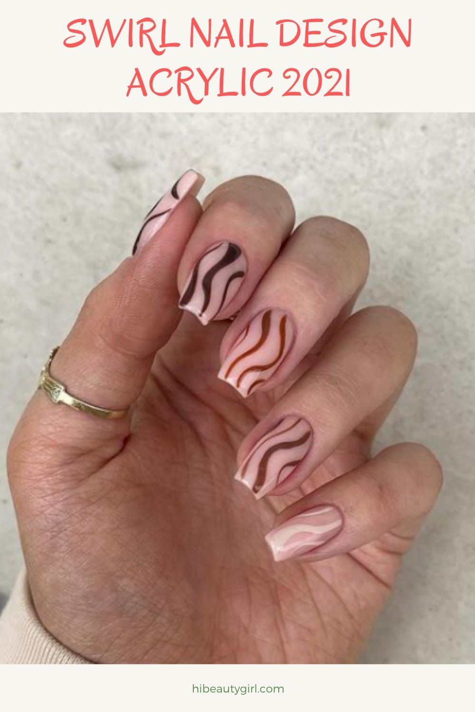 Swirl Nail Design Acrylic