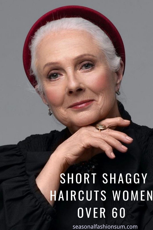 30 Elegant Short Shaggy Haircuts Women over 60