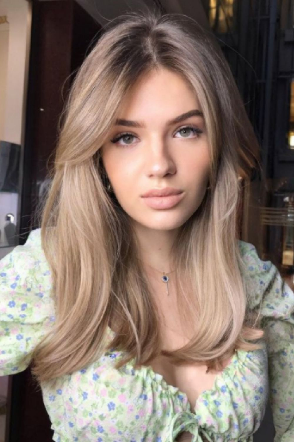 Easy Layered Hair with Curtain Bangs