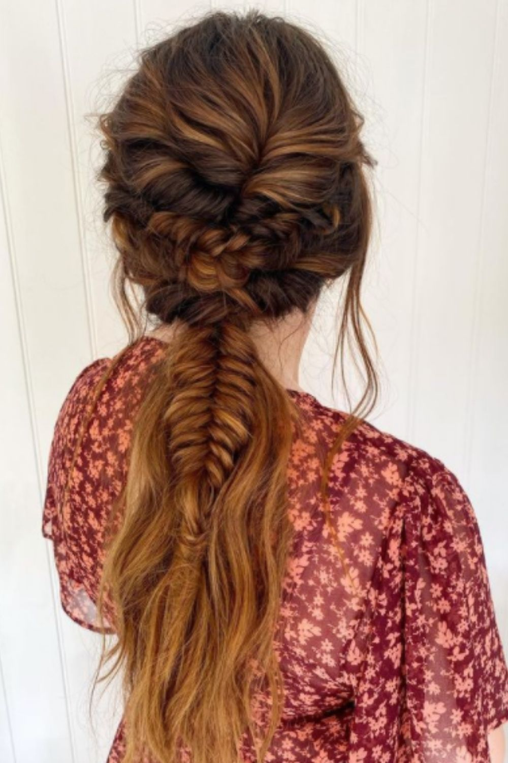 Ponytail for long curly hair