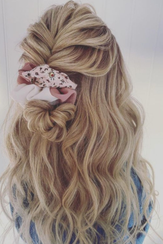 Half up half down curls hairstyles