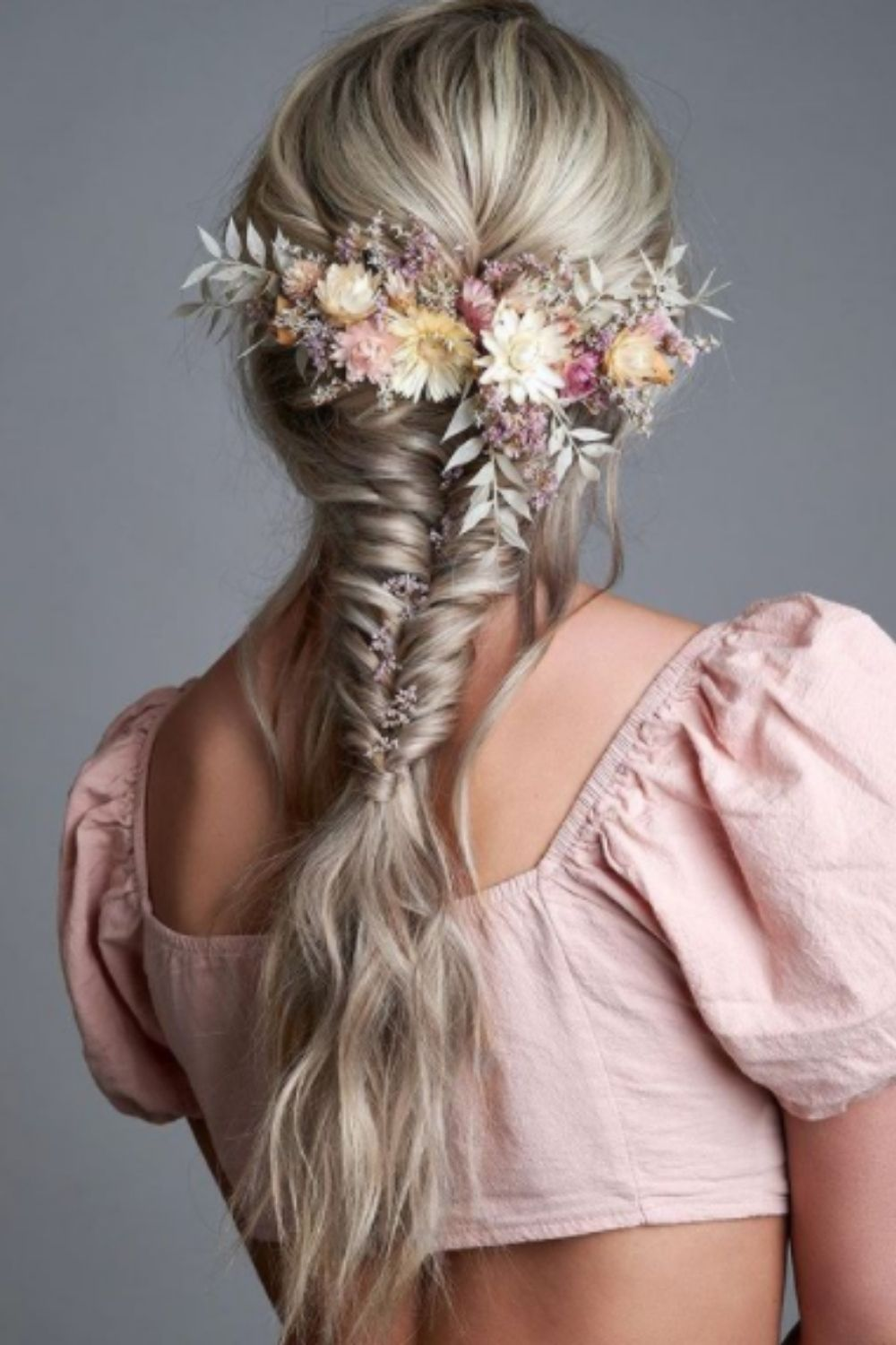 Retro curls long hair for homecoming hairstyles with braid