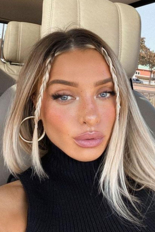 Medium length ash blonde hairstyles for women