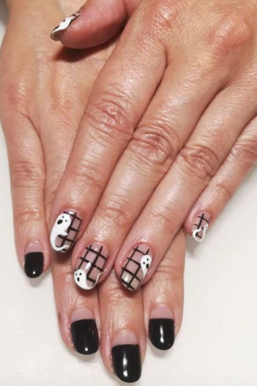How to get halloween gosht nails?